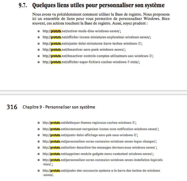 Capture d'écran - Windows 7, les secrets des pros (page 315-316)