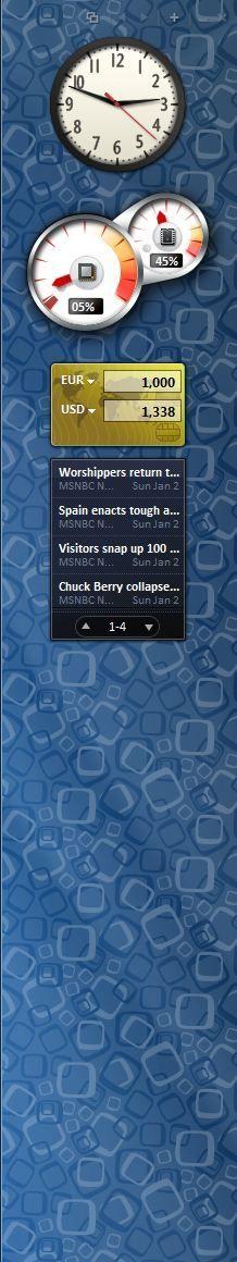 Capture d'écran - Aperçu de 7 Sidebar Gadget