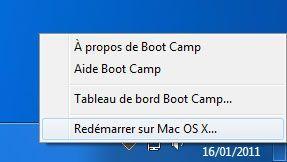 Capture d'écran - Redémarrage sous MacOS X depuis Windows 7