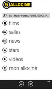 Allociné pour Windows Phone 7