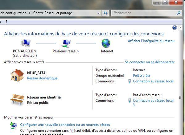 Capture d'écran - Choix de la connexion réseau