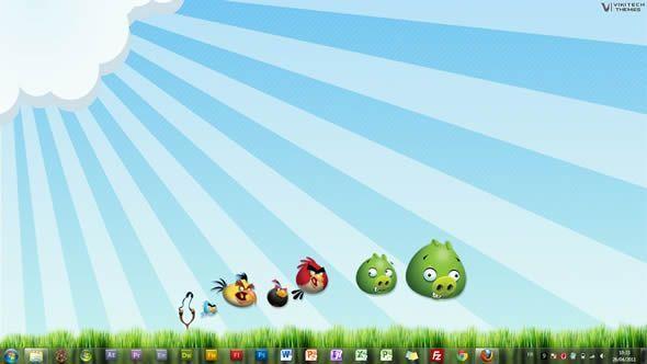 Angry Birds, thème visuel pour Windows 7
