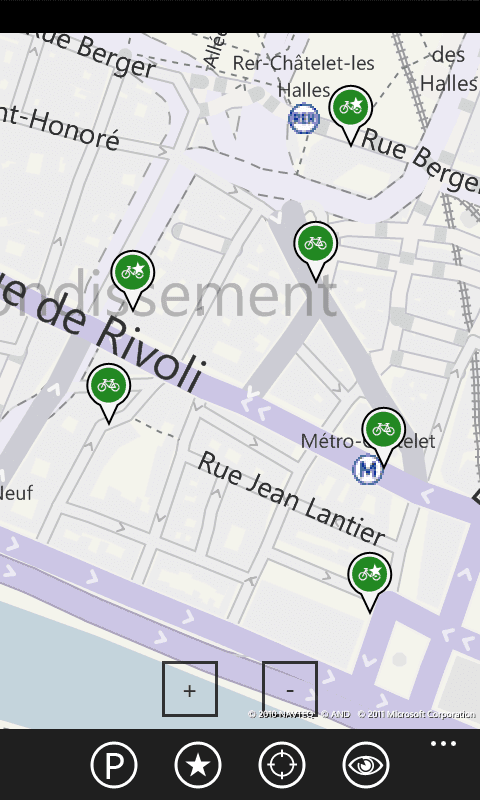 Vélo Paris - Carte des stations