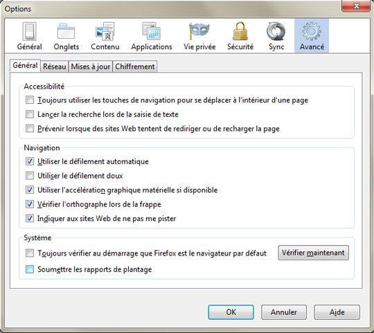 Capture d'écran - Empêcher le tracking de votre PC sous Firefox 4