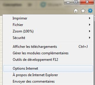 Capture d'écran - Options Internet sous Internet Explorer 9