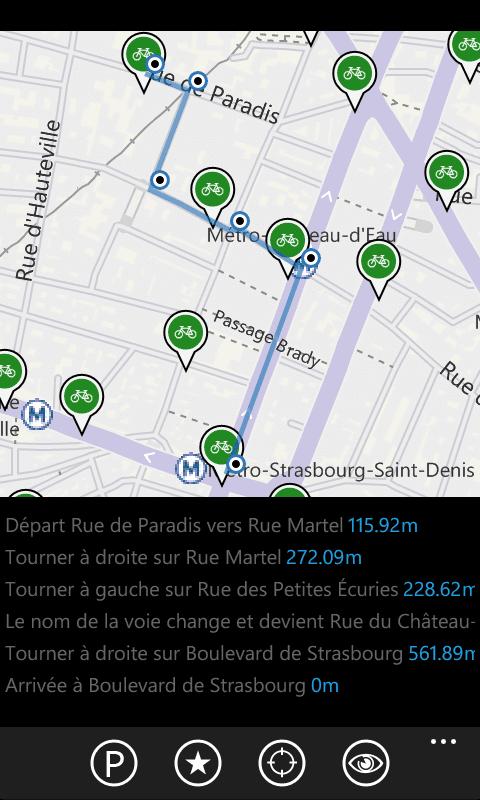 Vélo Paris - Fonction Itinéraire