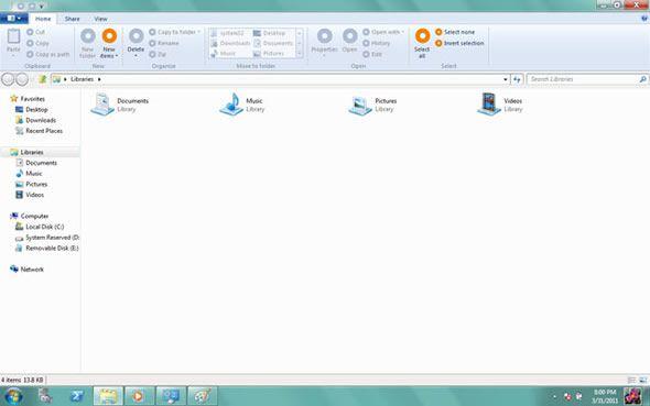 Windows 8 : un explorateur doté du ruban d'office ?