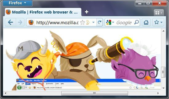 QSQ, thème visuel pour Firefox 4
