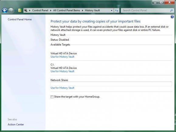 Windows 8 : History Vault