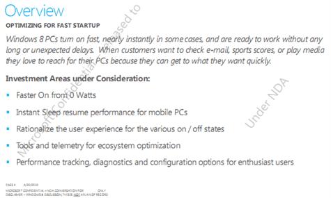 Windows 8 - Allumage instantané ?