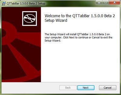 Capture d'écran - Installation de QTTabBar