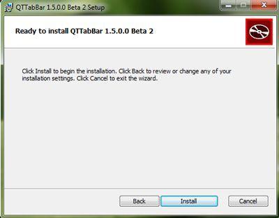 Capture d'écran - Installation de QTTabBar, étape n°4
