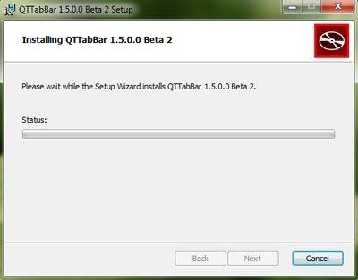 Capture d'écran - Installation de QTTabBar, étape n°5