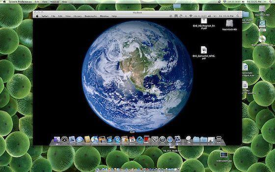 Capture d'écran - Partage d'écran sous MacOS X