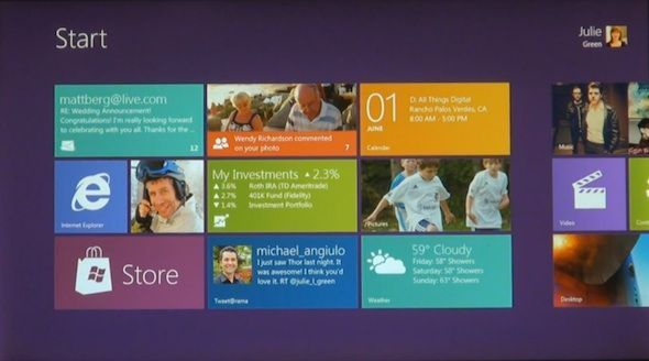 Capture d'écran - Windows 8 Start Screen