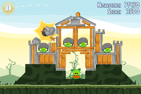 Capture d'écran - Angry Birds