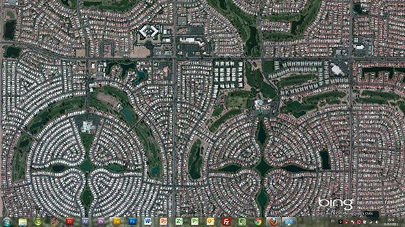 Capture d'écran - Bing Aerial Maps thème visuel pour Windows 7