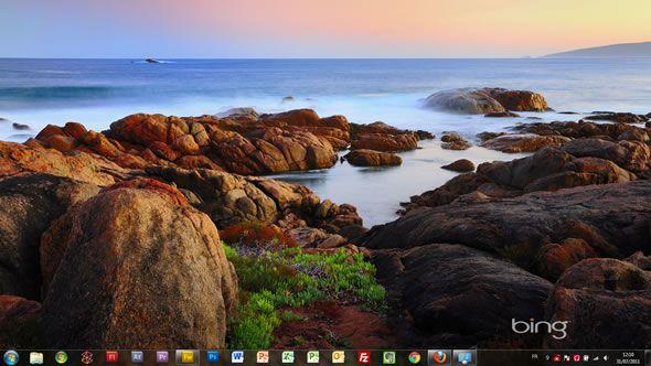 Capture d'écran - Le meilleur de Bing : Australie 2, thème visuel pour Windows 7