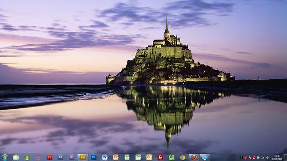 Capture d'écran - Châteaux d'Europe thème visuel pour Windows 7