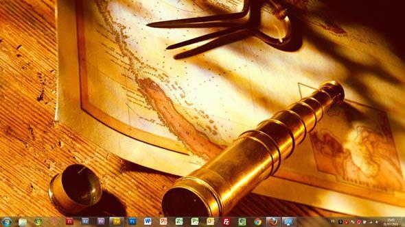 Capture d'écran - Echoes of the past thème visuel pour Windows 7