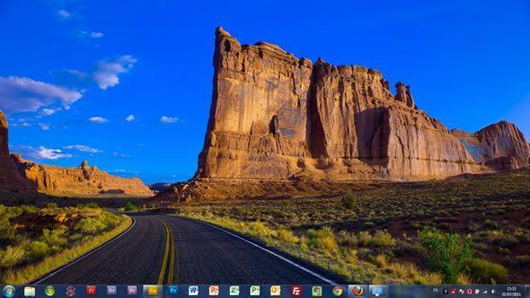 Capture d'écran - Road Trip de légende aux Etats Unis thème visuel pour Windows 7