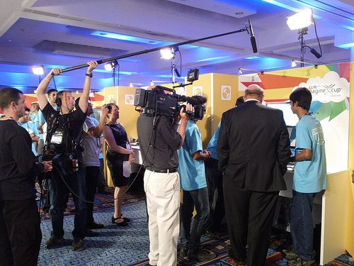 Steve Ballmer à l'Imagine Cup 2011 - New York Marriot Marquis Hotel