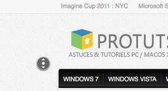 Capture d'écran - Le défilement automatique activé sous Firefox (clic-milieu de la souris)