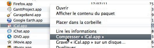 Capture d'écran - Sauvegarde de iCal.app sous Lion