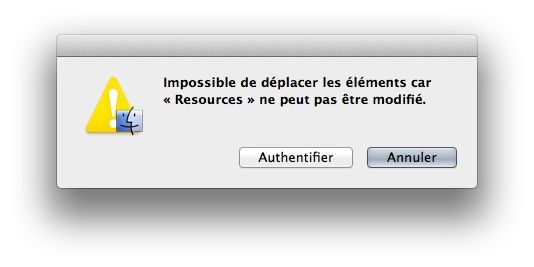 Capture d'écran - Procédure d'authentification sous OS X Lion