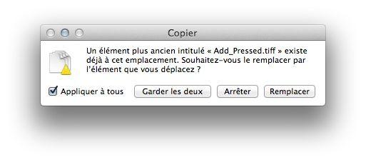 Capture d'écran - Ecrasement des fichiers de iCal