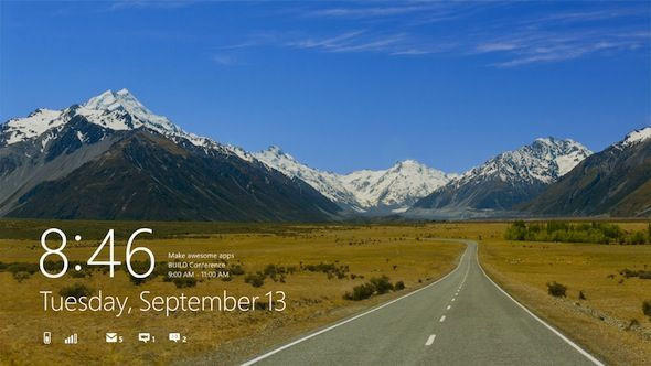 Capture d'écran - L'écran d'accueil de Windows 8 reprenant l'interface Metro