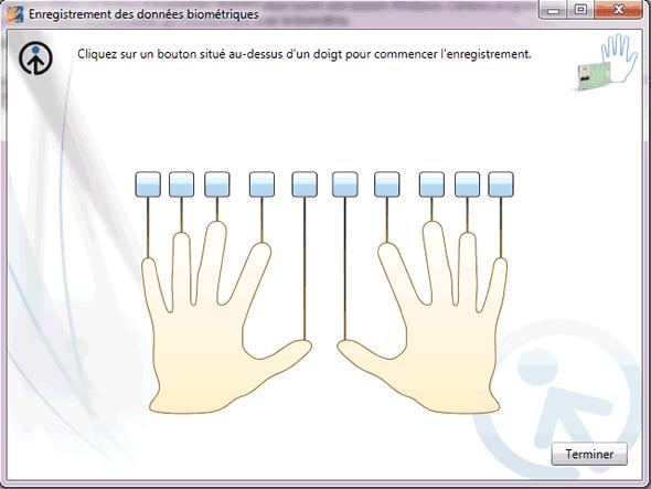 Capture d'écran - Enregistrement de vos empreintes digitales sous Windows 7