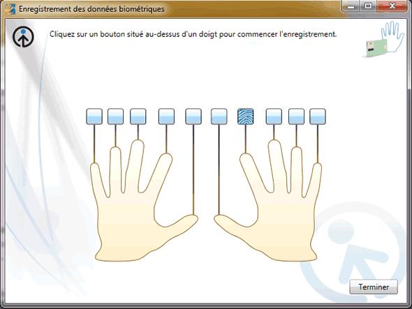 Capture d'écran - 1 doigt sur 10 enregistré