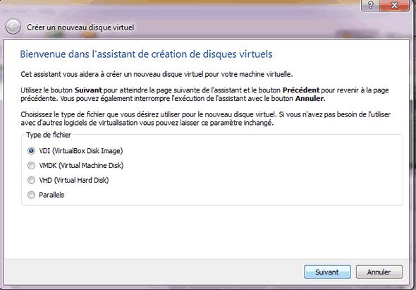 Capture d'écran - Etape 5 de la création de la machine virtuelle pour Windows 8