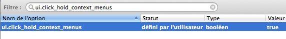 Capture d'écran - Activation du menu contextuel via le clic gauche pour Firefox