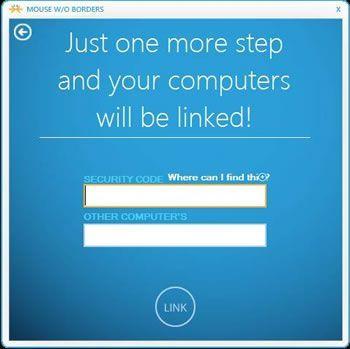 Capture d'écran - Saisissez le code de sécurité et donnez un nom à votre PC