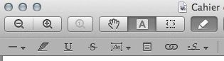 Capture d'écran - Aperçu avec la fonction signature des PDF
