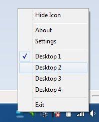 Capture d'écran - Bureaux virtuels sous Windows