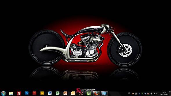 Capture d'écran - Akrapovic Morsus, thème visuel officiel Windows 7