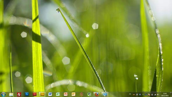 Capture d'écran - La vie en vert, thème visuel officiel Windows 7