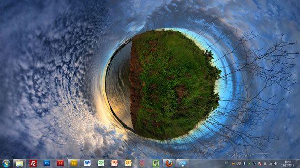 Capture d'écran - Illusions, thème visuel officiel Windows 7