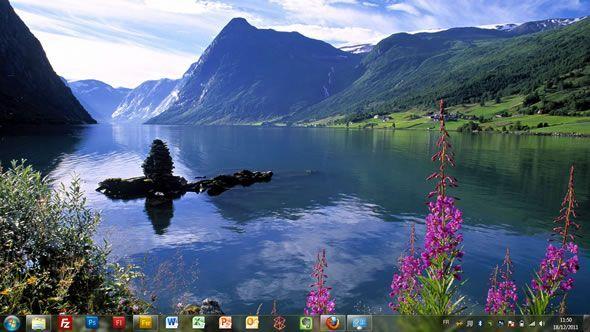Capture d'écran - Paysages nordiques, thème visuel officiel Windows 7