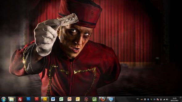 Capture d'écran - Un ticket pour la peur, thème visuel officiel Windows 7