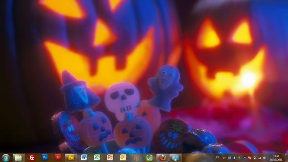 Capture d'écran - Un sort ou une friandise, thème officiel Windows 7