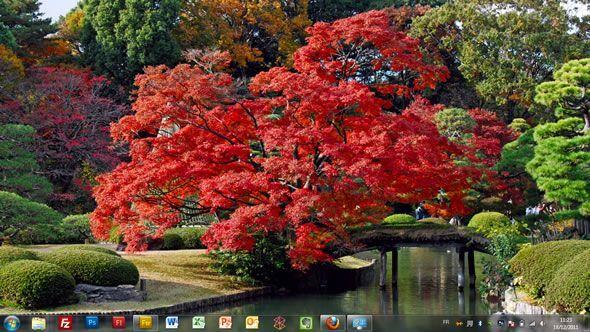 Capture d'écran - Couleurs automnales du Japon, thème officiel Windows 7