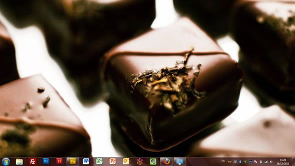 Capture d'écran - Chocolat, thème visuel officiel Windows 7