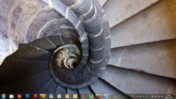 Capture d'écran - Vieilles pierres et corridors, thème visuel officiel Windows 7