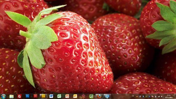 Capture d'écran - Fruits frais, thème visuel officiel Windows 7