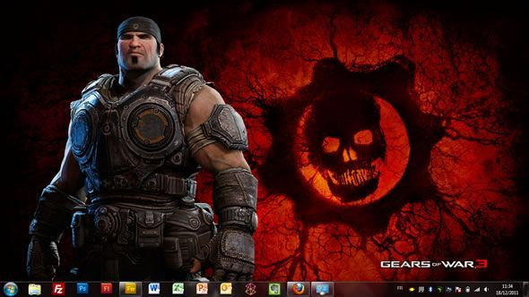 Capture d'écran - Gears of war Delta Squad, thème visuel officiel Windows 7