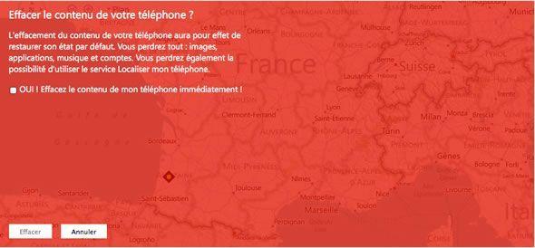 Capture d'écran - Effacer la totalité du contenu de son téléphone, WindowsPhone.com